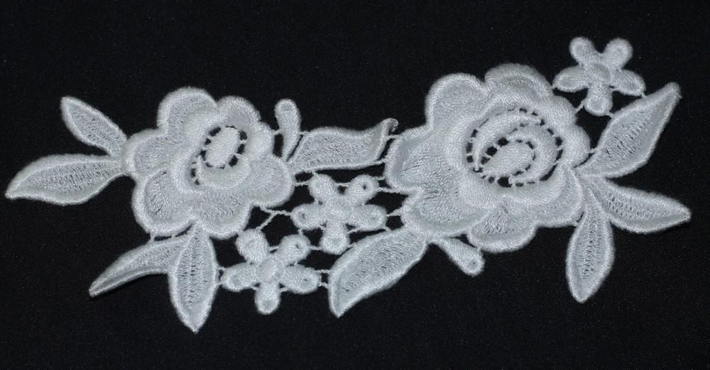 Applique de fleurs touché coton 800