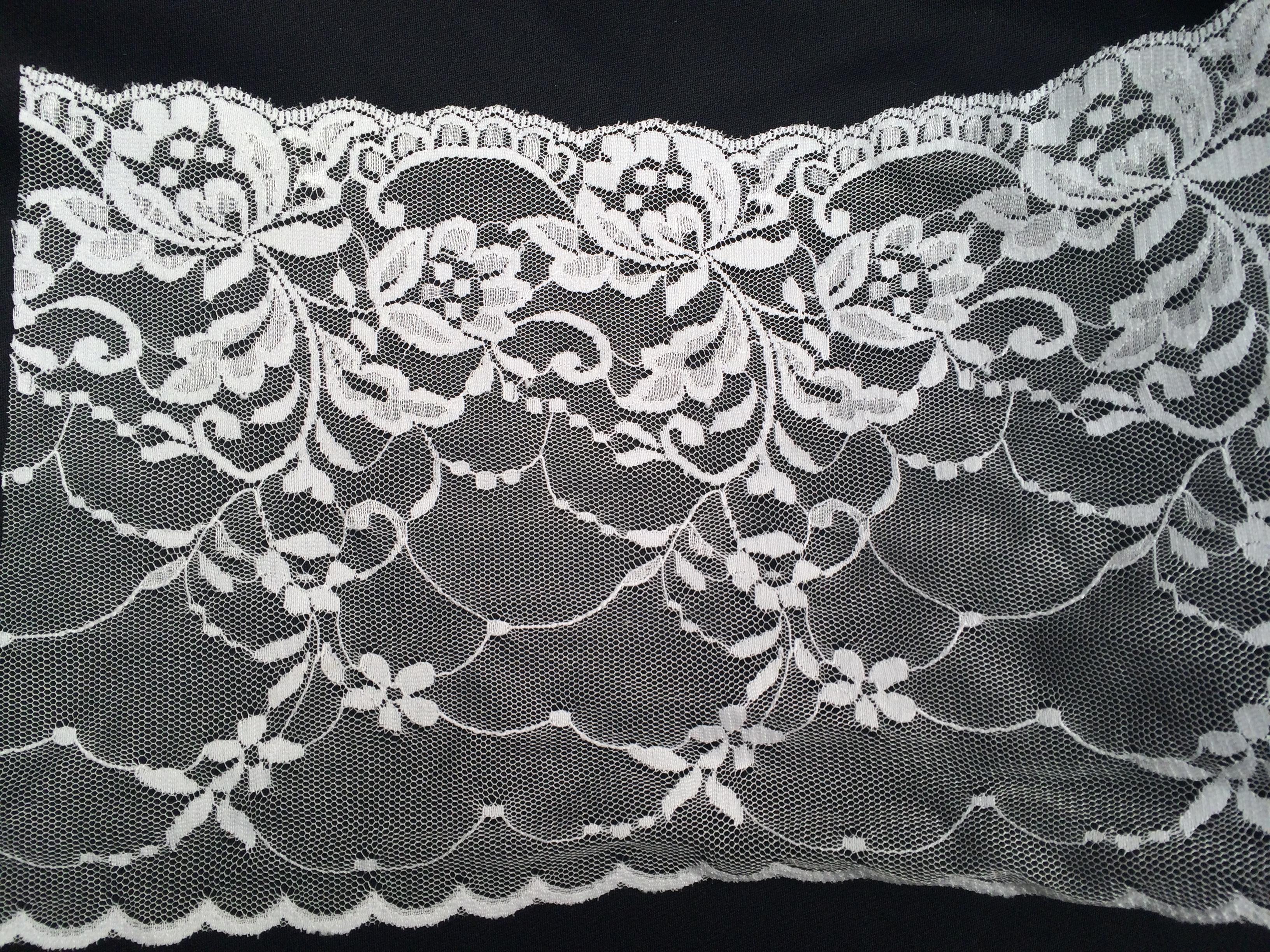 Galon dentelle ruban 530 blanc